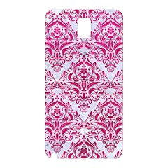 Damask1 White Marble & Pink Leather (r) Samsung Galaxy Note 3 N9005 Hardshell Back Case by trendistuff