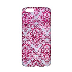 Damask1 White Marble & Pink Leather (r) Apple Iphone 6/6s Hardshell Case by trendistuff