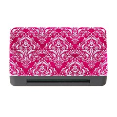 Damask1 White Marble & Pink Leather Memory Card Reader With Cf by trendistuff