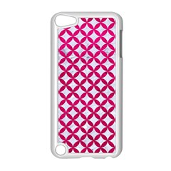 Circles3 White Marble & Pink Leather (r) Apple Ipod Touch 5 Case (white) by trendistuff