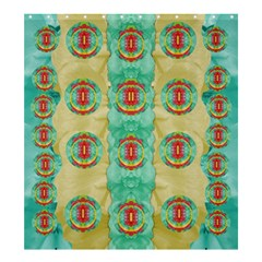 Peace Will Be In Fantasy Flowers With Love Shower Curtain 66  X 72  (large)  by pepitasart