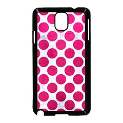 Circles2 White Marble & Pink Leather (r) Samsung Galaxy Note 3 Neo Hardshell Case (black) by trendistuff