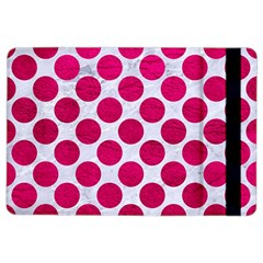 Circles2 White Marble & Pink Leather (r) Ipad Air 2 Flip by trendistuff