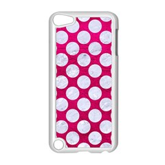 Circles2 White Marble & Pink Leather Apple Ipod Touch 5 Case (white) by trendistuff