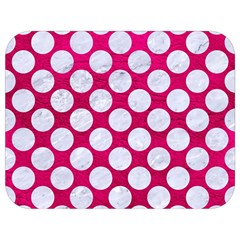 Circles2 White Marble & Pink Leather Full Print Lunch Bag