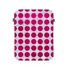 Circles1 White Marble & Pink Leather (r) Apple Ipad 2/3/4 Protective Soft Cases by trendistuff