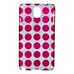 Circles1 White Marble & Pink Leather (r) Samsung Galaxy Note 3 N9005 Hardshell Case by trendistuff