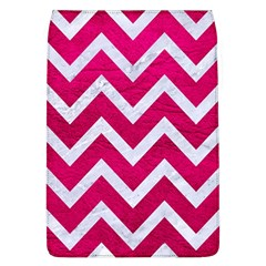Chevron9 White Marble & Pink Leather Flap Covers (l)  by trendistuff