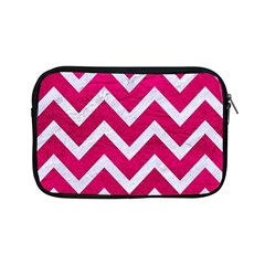 Chevron9 White Marble & Pink Leather Apple Ipad Mini Zipper Cases by trendistuff