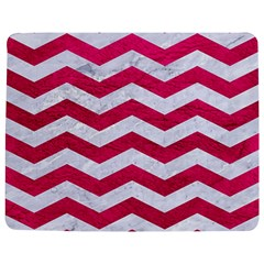 Chevron3 White Marble & Pink Leather Jigsaw Puzzle Photo Stand (rectangular) by trendistuff