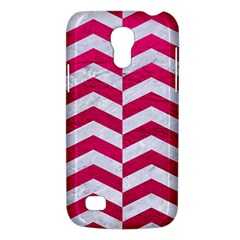 Chevron2 White Marble & Pink Leather Galaxy S4 Mini by trendistuff