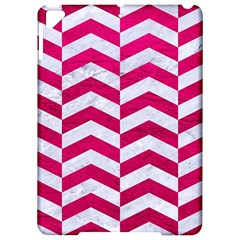 Chevron2 White Marble & Pink Leather Apple Ipad Pro 9 7   Hardshell Case by trendistuff