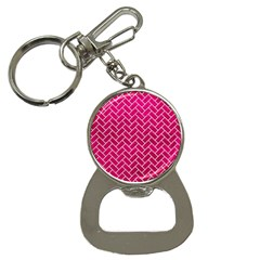 Brick2 White Marble & Pink Leather Bottle Opener Key Chains by trendistuff
