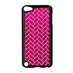 Brick2 White Marble & Pink Leather Apple Ipod Touch 5 Case (black) by trendistuff