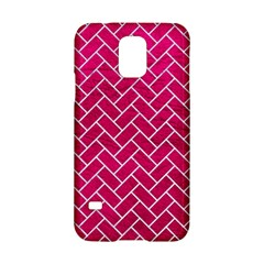 Brick2 White Marble & Pink Leather Samsung Galaxy S5 Hardshell Case  by trendistuff
