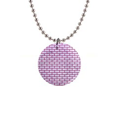 Brick1 White Marble & Pink Leather (r) Button Necklaces by trendistuff