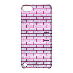 Brick1 White Marble & Pink Leather (r) Apple Ipod Touch 5 Hardshell Case With Stand by trendistuff