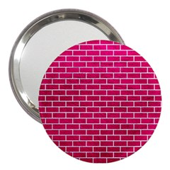 Brick1 White Marble & Pink Leather 3  Handbag Mirrors by trendistuff