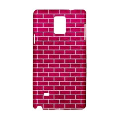 Brick1 White Marble & Pink Leather Samsung Galaxy Note 4 Hardshell Case by trendistuff