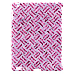 Woven2 White Marble & Pink Marble (r) Apple Ipad 3/4 Hardshell Case (compatible With Smart Cover) by trendistuff