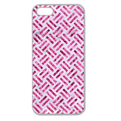 Woven2 White Marble & Pink Marble (r) Apple Seamless Iphone 5 Case (clear) by trendistuff