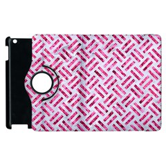 Woven2 White Marble & Pink Marble (r) Apple Ipad 2 Flip 360 Case by trendistuff