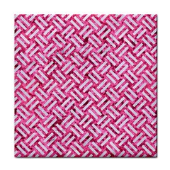 Woven2 White Marble & Pink Marble Face Towel by trendistuff