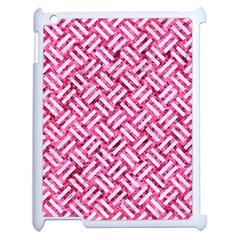 Woven2 White Marble & Pink Marble Apple Ipad 2 Case (white) by trendistuff
