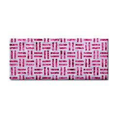 Woven1 White Marble & Pink Marble (r) Hand Towel by trendistuff