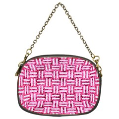 Woven1 White Marble & Pink Marble Chain Purses (two Sides)  by trendistuff