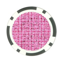 Woven1 White Marble & Pink Marble Poker Chip Card Guard (10 Pack) by trendistuff
