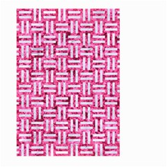 Woven1 White Marble & Pink Marble Large Garden Flag (two Sides) by trendistuff