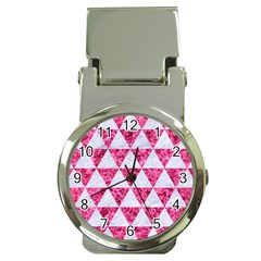 Triangle3 White Marble & Pink Marble Money Clip Watches by trendistuff