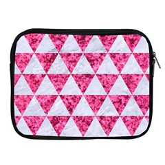 Triangle3 White Marble & Pink Marble Apple Ipad 2/3/4 Zipper Cases by trendistuff