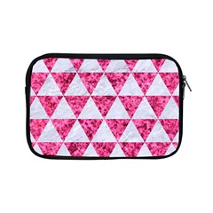 Triangle3 White Marble & Pink Marble Apple Ipad Mini Zipper Cases by trendistuff