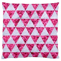 Triangle3 White Marble & Pink Marble Standard Flano Cushion Case (one Side) by trendistuff