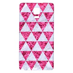 Triangle3 White Marble & Pink Marble Galaxy Note 4 Back Case by trendistuff