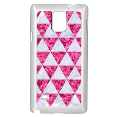 Triangle3 White Marble & Pink Marble Samsung Galaxy Note 4 Case (white) by trendistuff