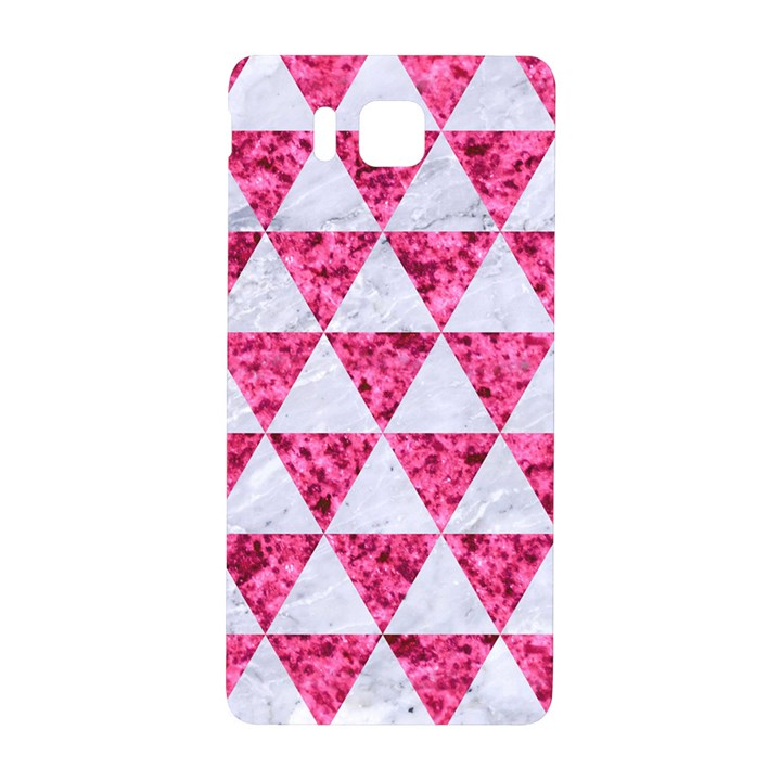 TRIANGLE3 WHITE MARBLE & PINK MARBLE Samsung Galaxy Alpha Hardshell Back Case