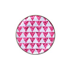 Triangle2 White Marble & Pink Marble Hat Clip Ball Marker by trendistuff