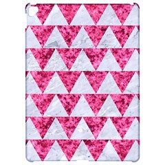 Triangle2 White Marble & Pink Marble Apple Ipad Pro 12 9   Hardshell Case by trendistuff