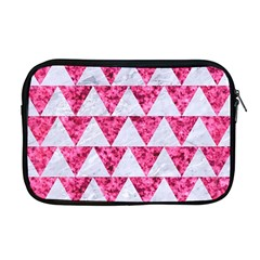 Triangle2 White Marble & Pink Marble Apple Macbook Pro 17  Zipper Case