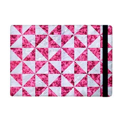 Triangle1 White Marble & Pink Marble Apple Ipad Mini Flip Case by trendistuff