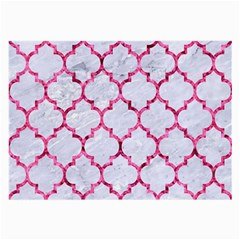 Tile1 White Marble & Pink Marble (r) Large Glasses Cloth by trendistuff