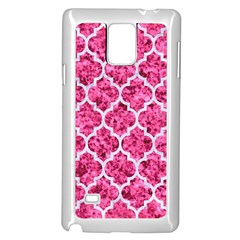 Tile1 White Marble & Pink Marble Samsung Galaxy Note 4 Case (white) by trendistuff