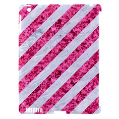 Stripes3 White Marble & Pink Marble (r) Apple Ipad 3/4 Hardshell Case (compatible With Smart Cover) by trendistuff