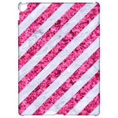 Stripes3 White Marble & Pink Marble (r) Apple Ipad Pro 12 9   Hardshell Case by trendistuff