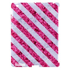Stripes3 White Marble & Pink Marble Apple Ipad 3/4 Hardshell Case (compatible With Smart Cover) by trendistuff