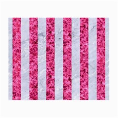 Stripes1 White Marble & Pink Marble Small Glasses Cloth (2 Side)