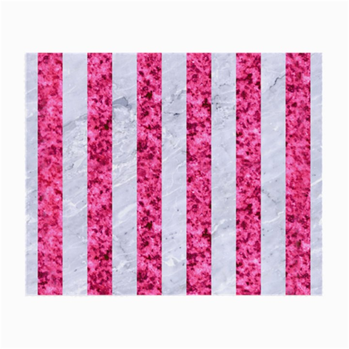 STRIPES1 WHITE MARBLE & PINK MARBLE Small Glasses Cloth (2-Side)
